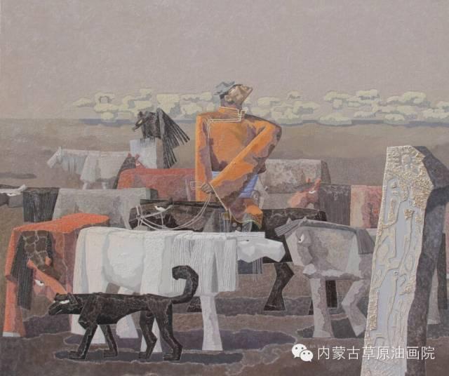 🔴内蒙古草原油画院画家--都仁毕力格 第16张 🔴内蒙古草原油画院画家--都仁毕力格 蒙古画廊