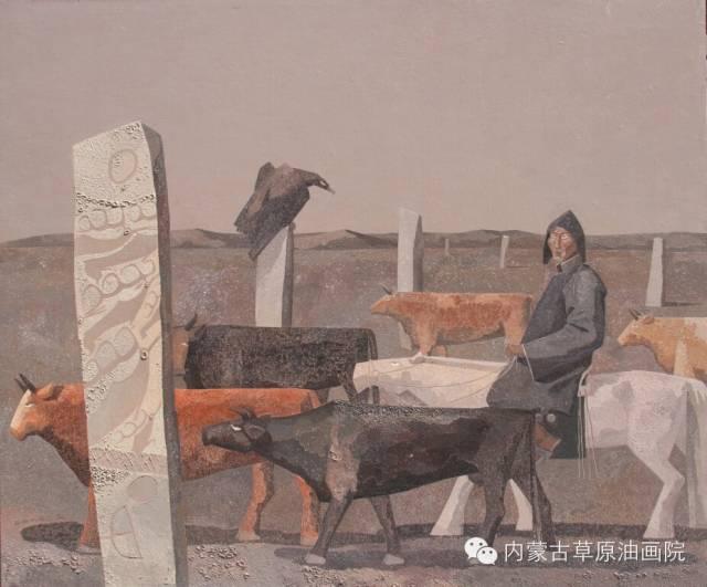 🔴内蒙古草原油画院画家--都仁毕力格 第15张 🔴内蒙古草原油画院画家--都仁毕力格 蒙古画廊