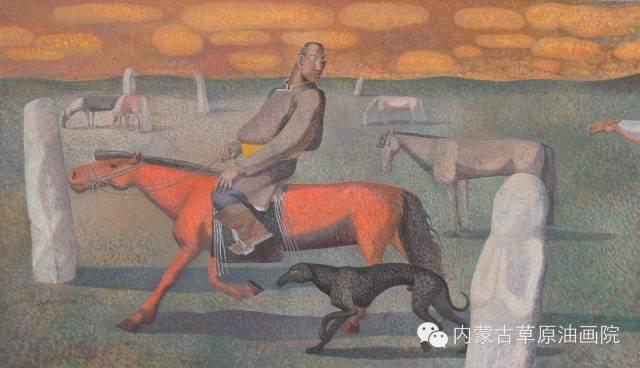 🔴内蒙古草原油画院画家--都仁毕力格 第17张 🔴内蒙古草原油画院画家--都仁毕力格 蒙古画廊