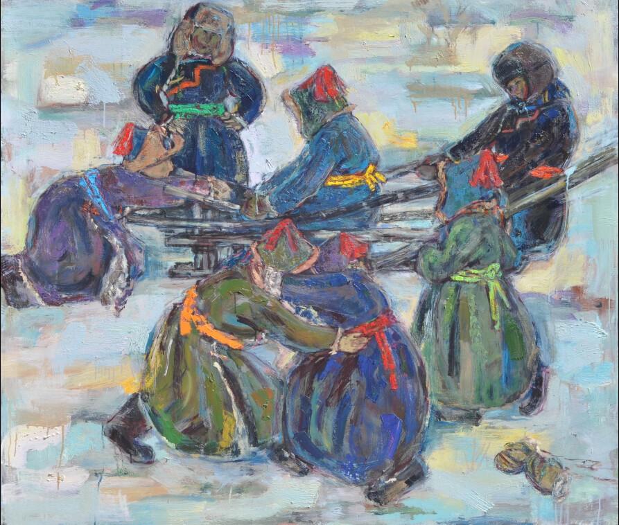 内蒙古草原油画院画家--王都一乐 第6张 内蒙古草原油画院画家--王都一乐 蒙古画廊