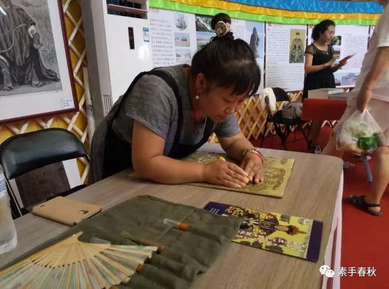 科尔沁版画家吕红梅 第1张 科尔沁版画家吕红梅 蒙古画廊