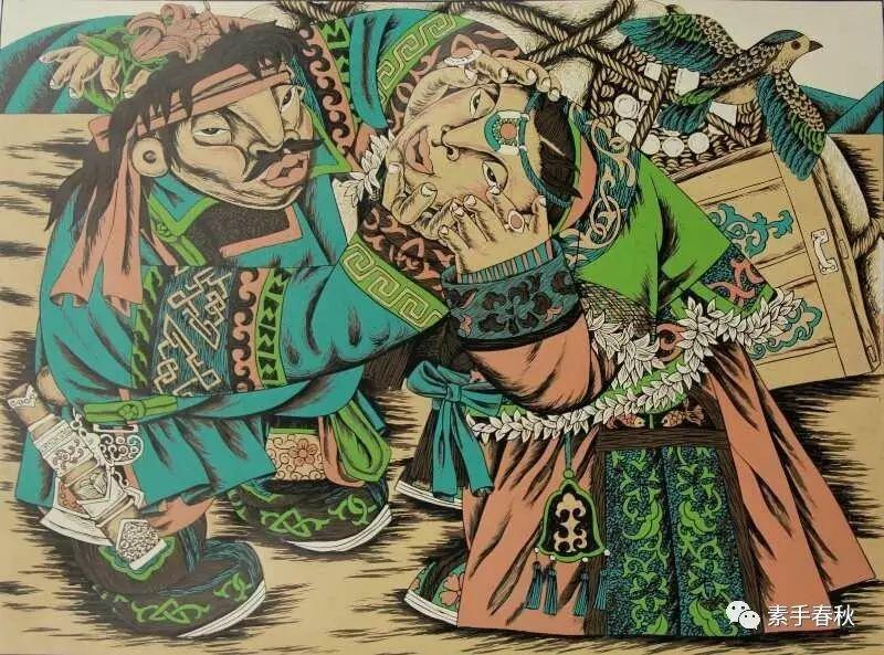科尔沁版画家吕红梅 第4张 科尔沁版画家吕红梅 蒙古画廊