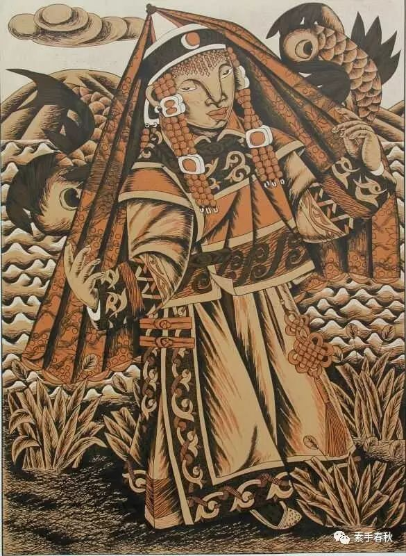 科尔沁版画家吕红梅 第5张 科尔沁版画家吕红梅 蒙古画廊