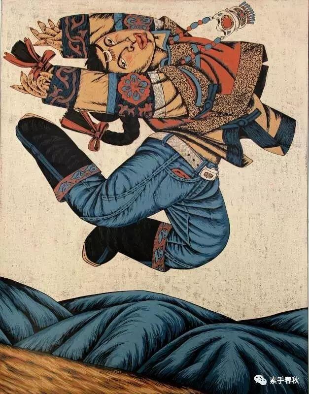 科尔沁版画家吕红梅 第3张 科尔沁版画家吕红梅 蒙古画廊