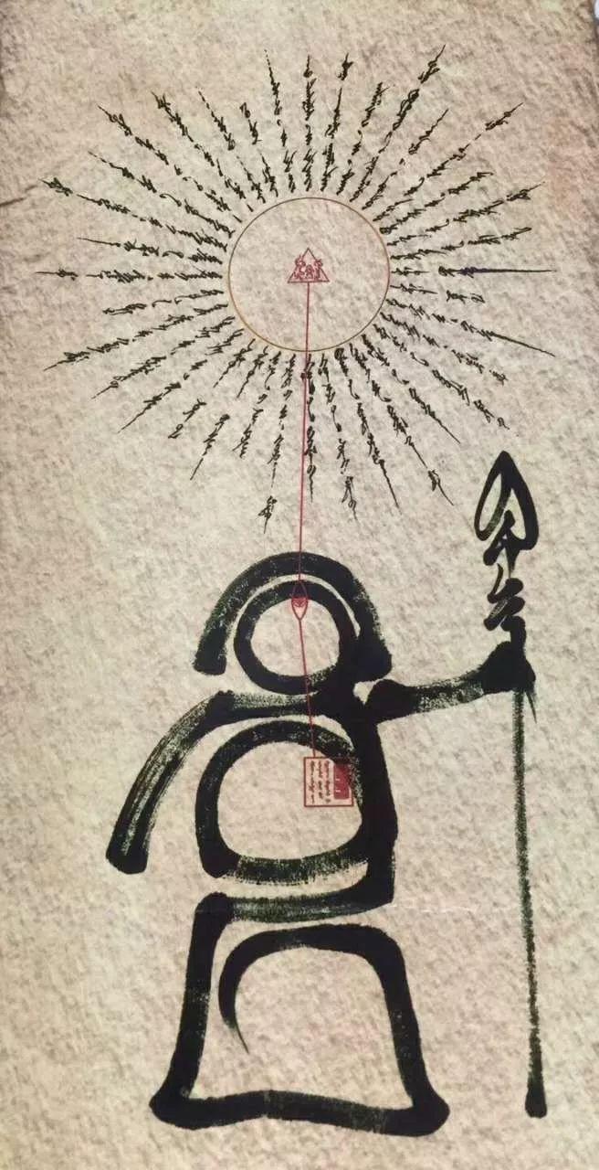 """蒙古国年轻画家展现文字艺术:  蒙古文字在他笔下""""活""""起来了 第3张"""