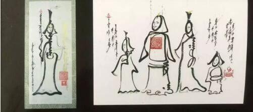 """蒙古国年轻画家展现文字艺术:  蒙古文字在他笔下""""活""""起来了 第6张 蒙古国年轻画家展现文字艺术:  蒙古文字在他笔下""""活""""起来了 蒙古书法"""