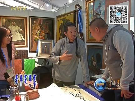 """蒙古国年轻画家展现文字艺术:  蒙古文字在他笔下""""活""""起来了 第13张 蒙古国年轻画家展现文字艺术:  蒙古文字在他笔下""""活""""起来了 蒙古书法"""