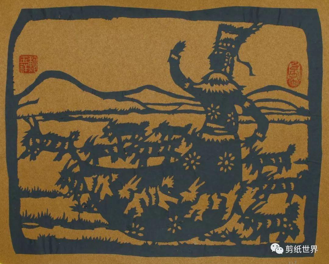 一组蒙古族风格剪纸,草原气息扑面而来,欣赏一下! 第6张 一组蒙古族风格剪纸,草原气息扑面而来,欣赏一下! 蒙古画廊