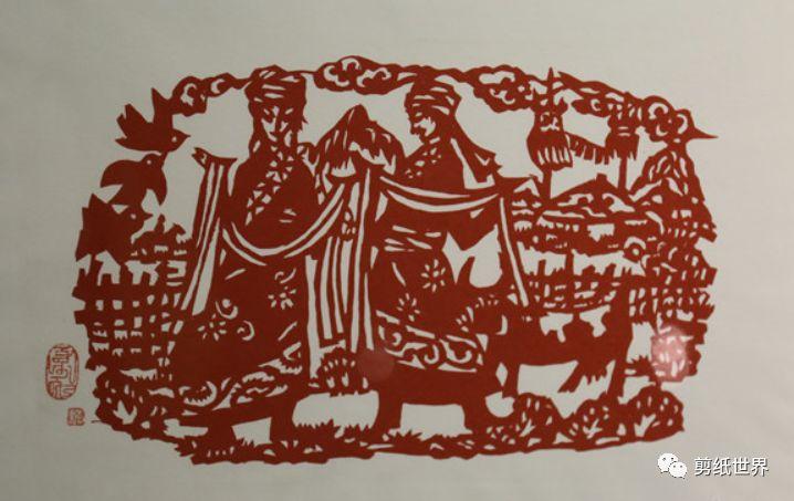 一组蒙古族风格剪纸,草原气息扑面而来,欣赏一下! 第7张 一组蒙古族风格剪纸,草原气息扑面而来,欣赏一下! 蒙古画廊