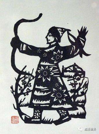 一组蒙古族风格剪纸,草原气息扑面而来,欣赏一下! 第9张 一组蒙古族风格剪纸,草原气息扑面而来,欣赏一下! 蒙古画廊