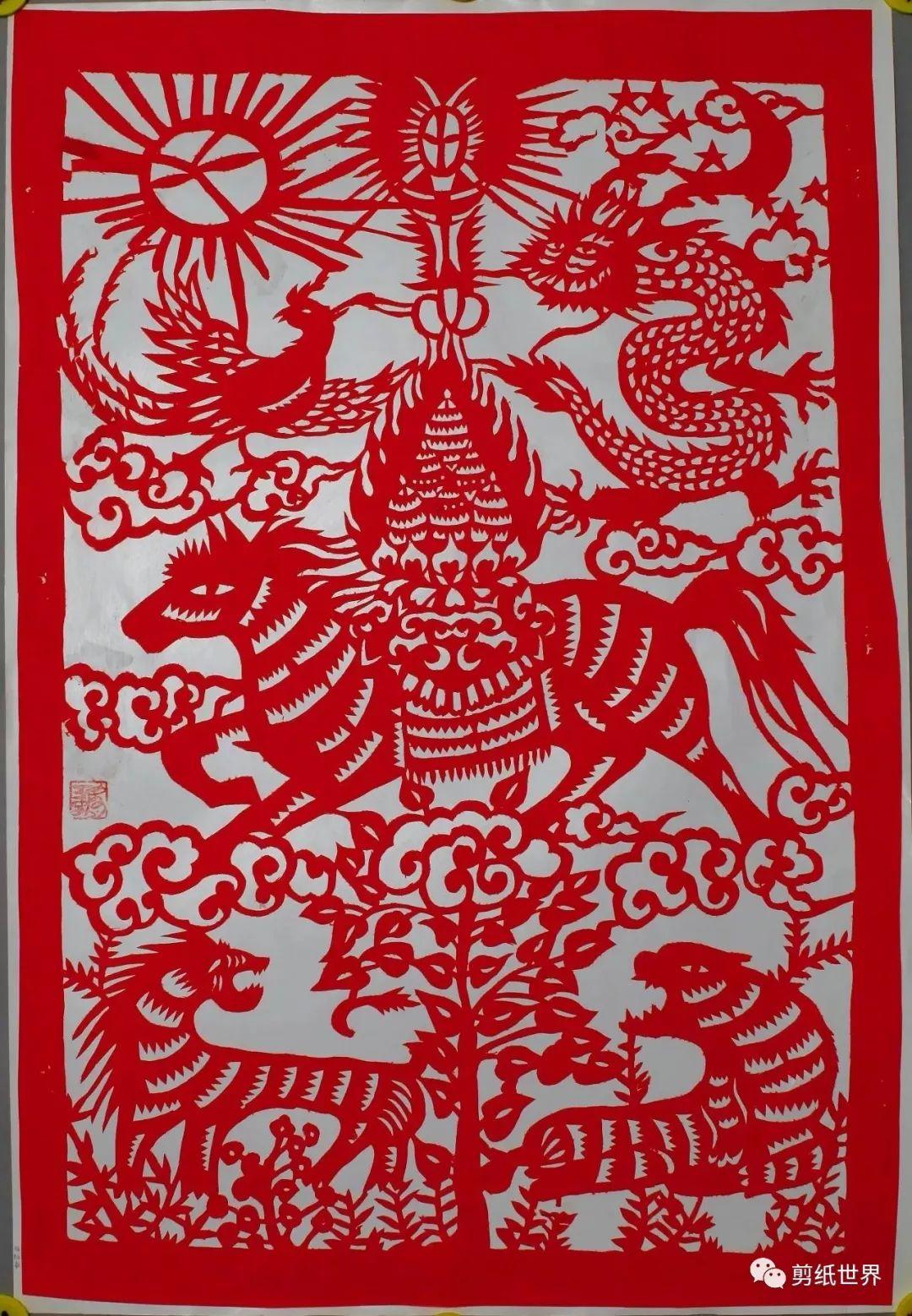 一组蒙古族风格剪纸,草原气息扑面而来,欣赏一下! 第10张 一组蒙古族风格剪纸,草原气息扑面而来,欣赏一下! 蒙古画廊