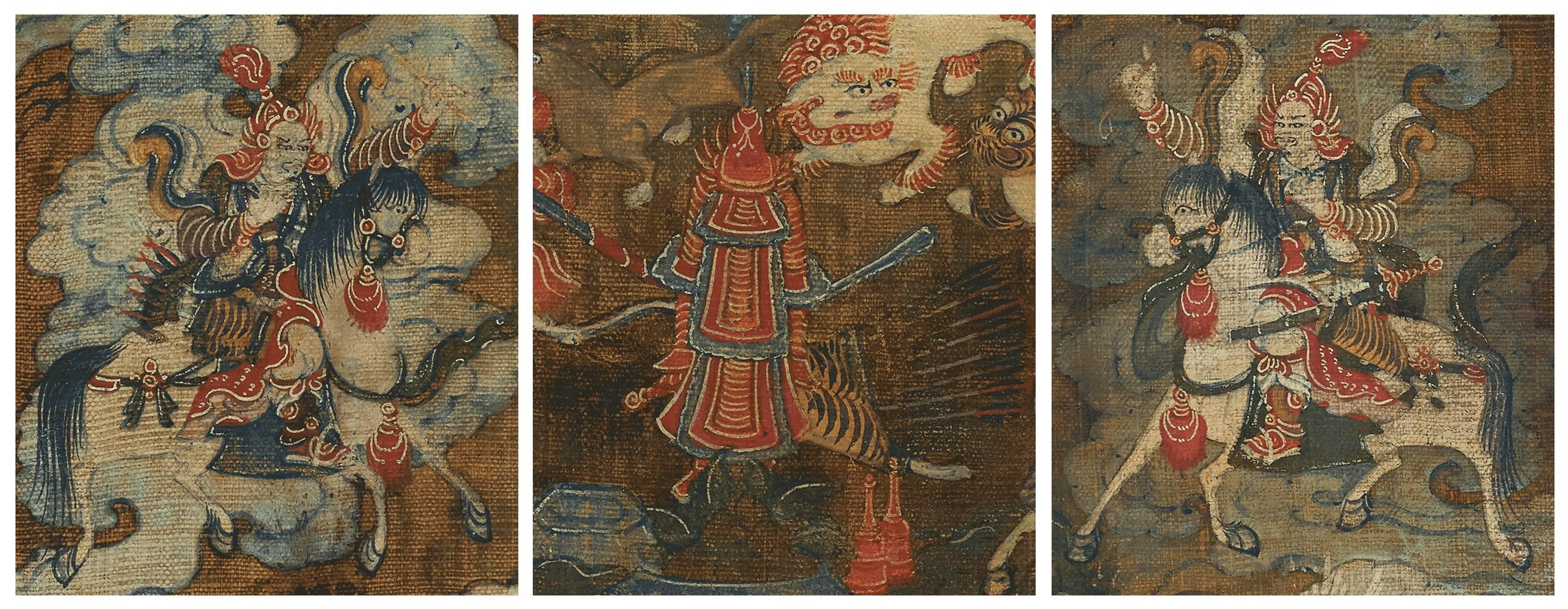 诚轩17春·瓷器 | 乾隆时期蒙古地区的一幅骏马财神唐卡 第2张