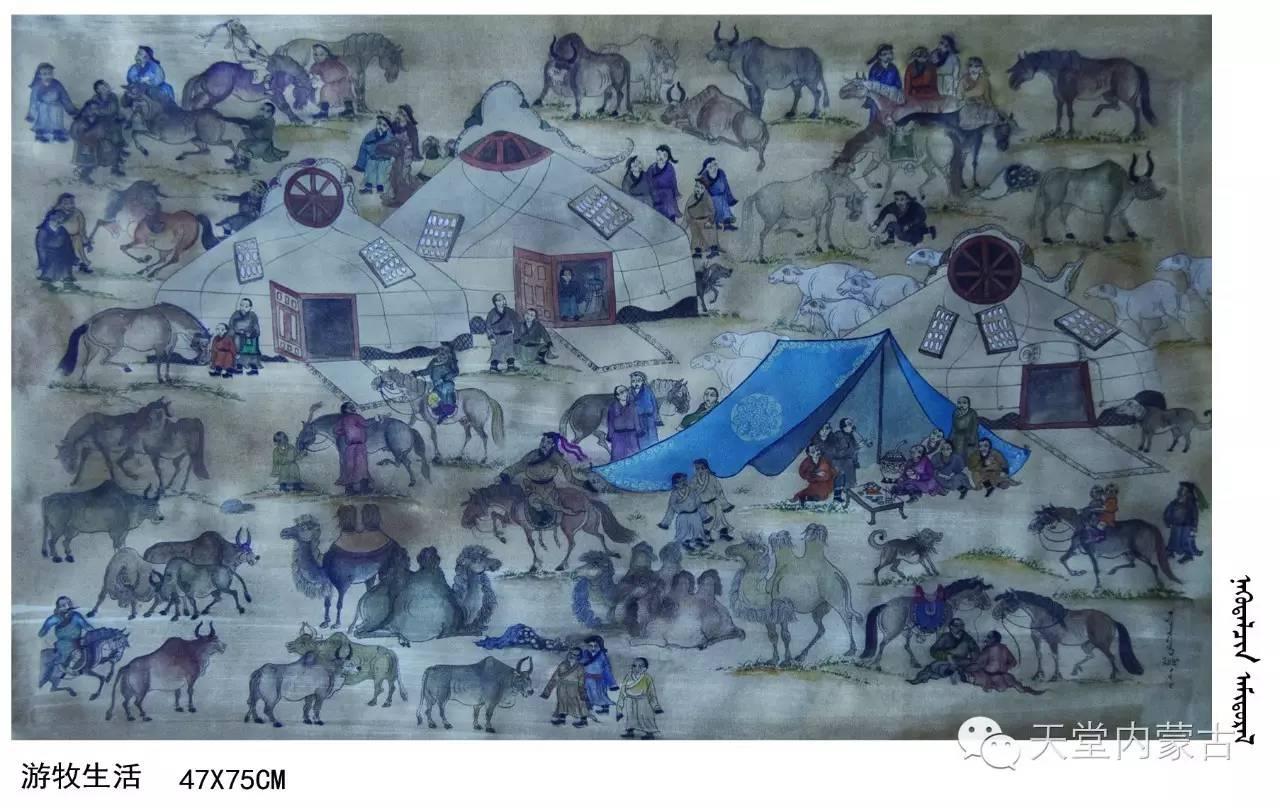 🔴内蒙古蒙古画艺术家乌云额尔德尼《故乡的呼唤》个人艺术展 第17张