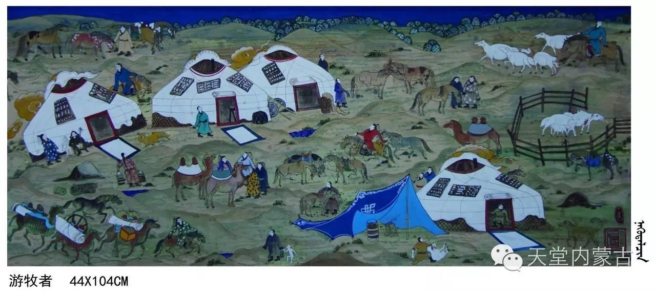 🔴内蒙古蒙古画艺术家乌云额尔德尼《故乡的呼唤》个人艺术展 第16张