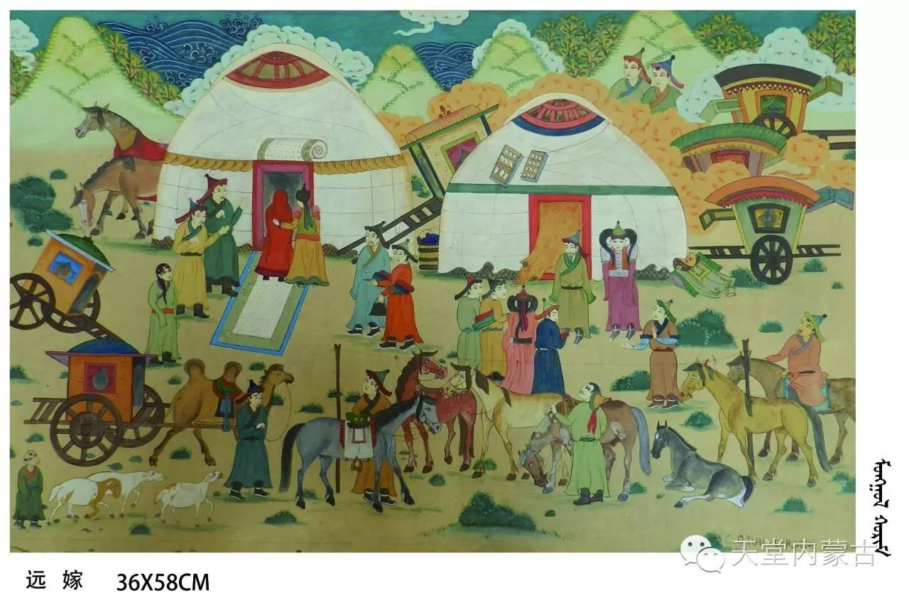🔴内蒙古蒙古画艺术家乌云额尔德尼《故乡的呼唤》个人艺术展 第18张 🔴内蒙古蒙古画艺术家乌云额尔德尼《故乡的呼唤》个人艺术展 蒙古画廊