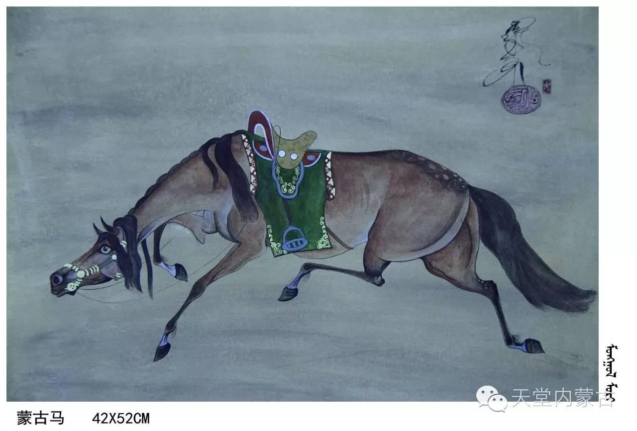 🔴内蒙古蒙古画艺术家乌云额尔德尼《故乡的呼唤》个人艺术展 第19张
