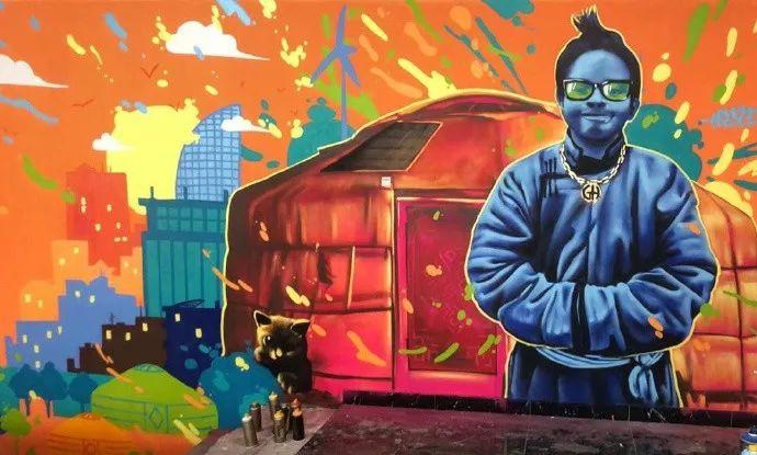 蒙古街头涂鸦艺术家heescco  第1张