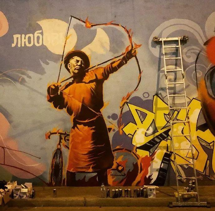 蒙古街头涂鸦艺术家heescco  第3张