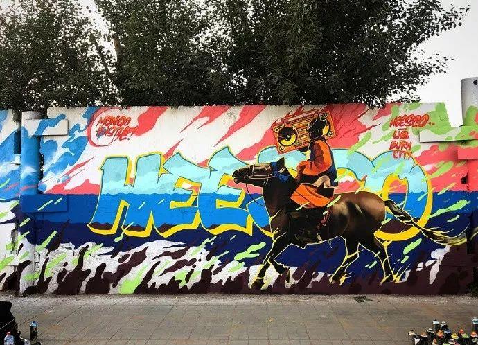 蒙古街头涂鸦艺术家heescco  第4张