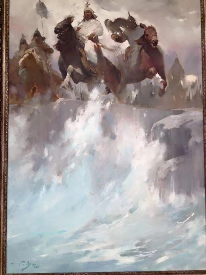 蒙古青年艺术家Otgontuvden油画作品欣赏 第8张 蒙古青年艺术家Otgontuvden油画作品欣赏 蒙古画廊