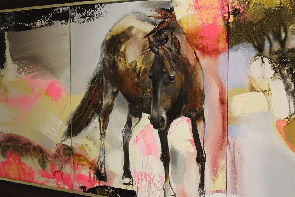 蒙古国当代艺术家 B.Batjin 的蒙古风景画 第8张
