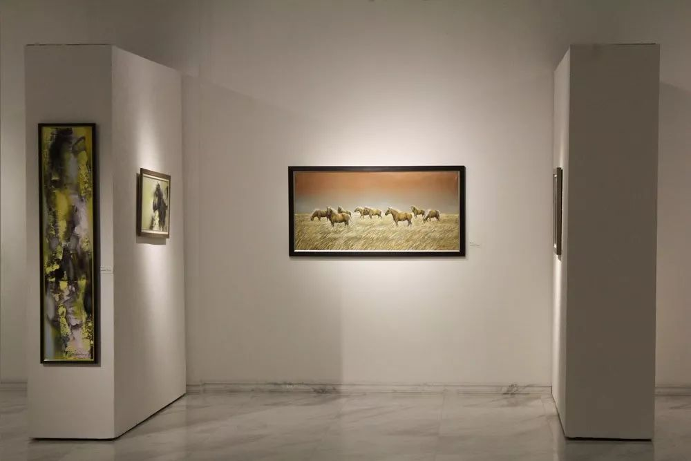 蒙古国当代艺术家 B.Batjin 的蒙古风景画 第5张