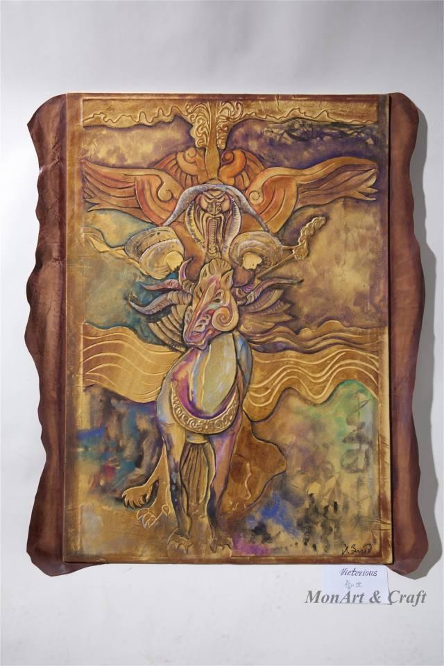 【美图】蒙古国皮画家艺术家吉雅图作品欣赏 第6张