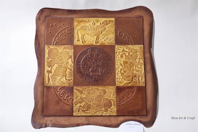 【美图】蒙古国皮画家艺术家吉雅图作品欣赏 第5张