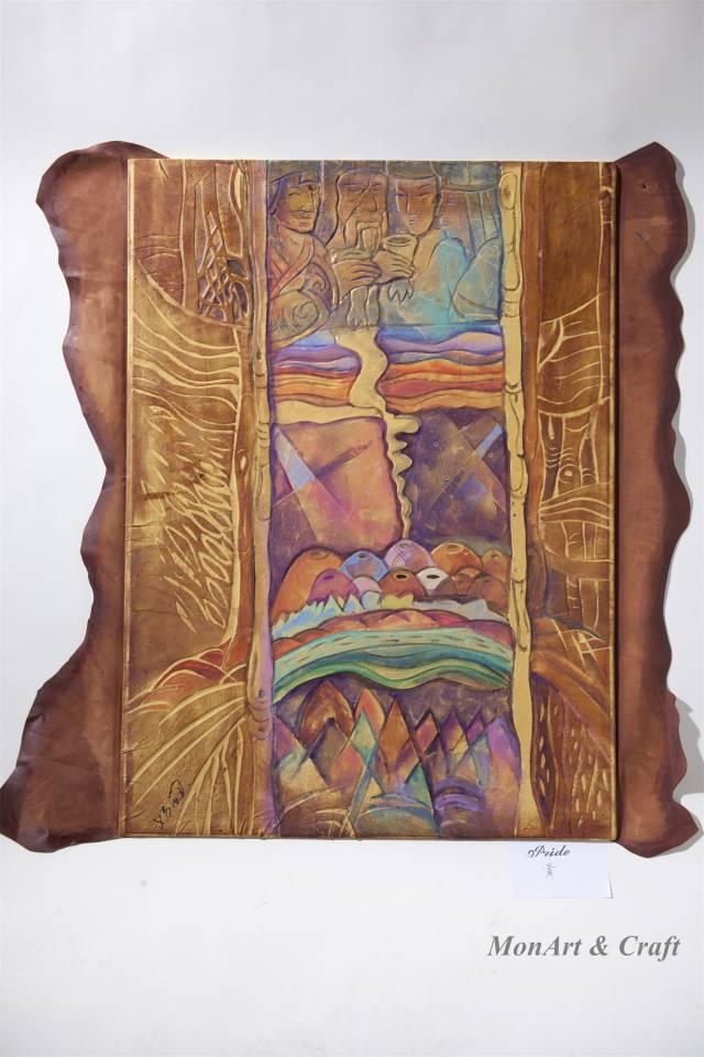 【美图】蒙古国皮画家艺术家吉雅图作品欣赏 第7张