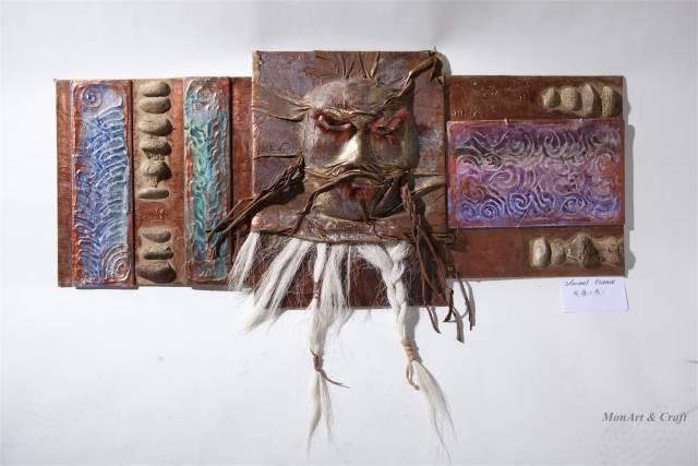 【美图】蒙古国皮画家艺术家吉雅图作品欣赏 第4张
