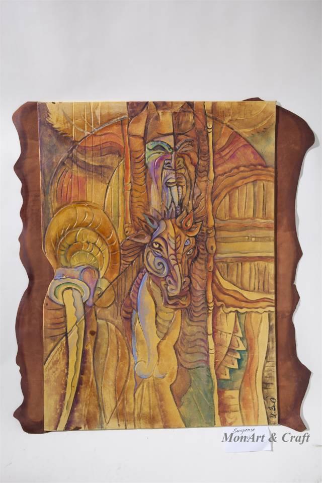 【美图】蒙古国皮画家艺术家吉雅图作品欣赏 第11张