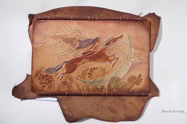 【美图】蒙古国皮画家艺术家吉雅图作品欣赏 第9张