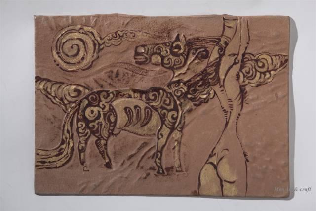 【美图】蒙古国皮画家艺术家吉雅图作品欣赏 第12张