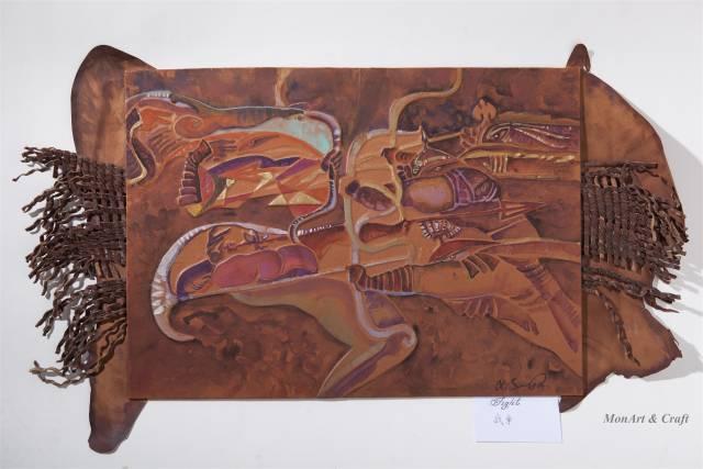 【美图】蒙古国皮画家艺术家吉雅图作品欣赏 第10张