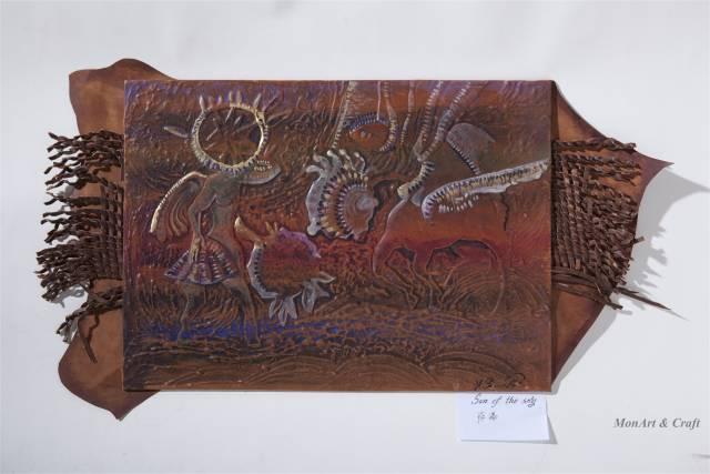 【美图】蒙古国皮画家艺术家吉雅图作品欣赏 第17张