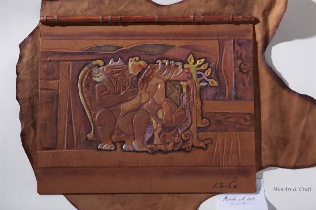 【美图】蒙古国皮画家艺术家吉雅图作品欣赏 第16张