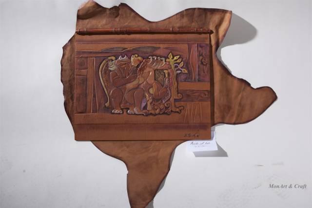 【美图】蒙古国皮画家艺术家吉雅图作品欣赏 第15张