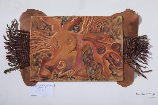 【美图】蒙古国皮画家艺术家吉雅图作品欣赏 第18张