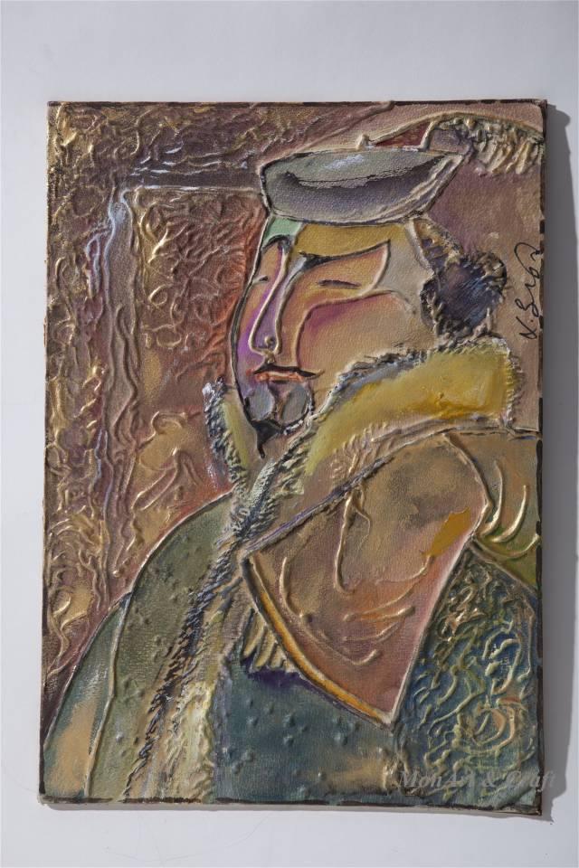 【美图】蒙古国皮画家艺术家吉雅图作品欣赏 第19张
