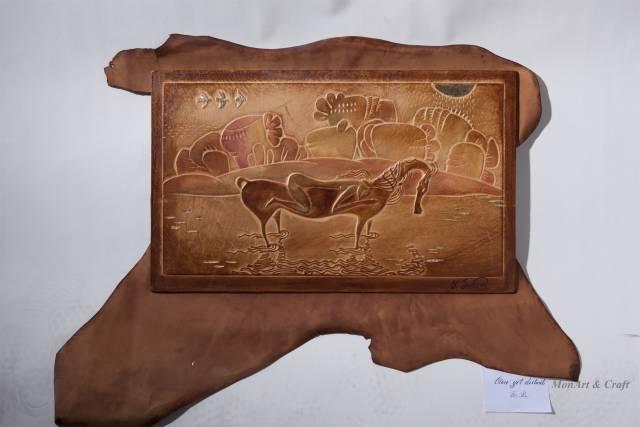 【美图】蒙古国皮画家艺术家吉雅图作品欣赏 第23张