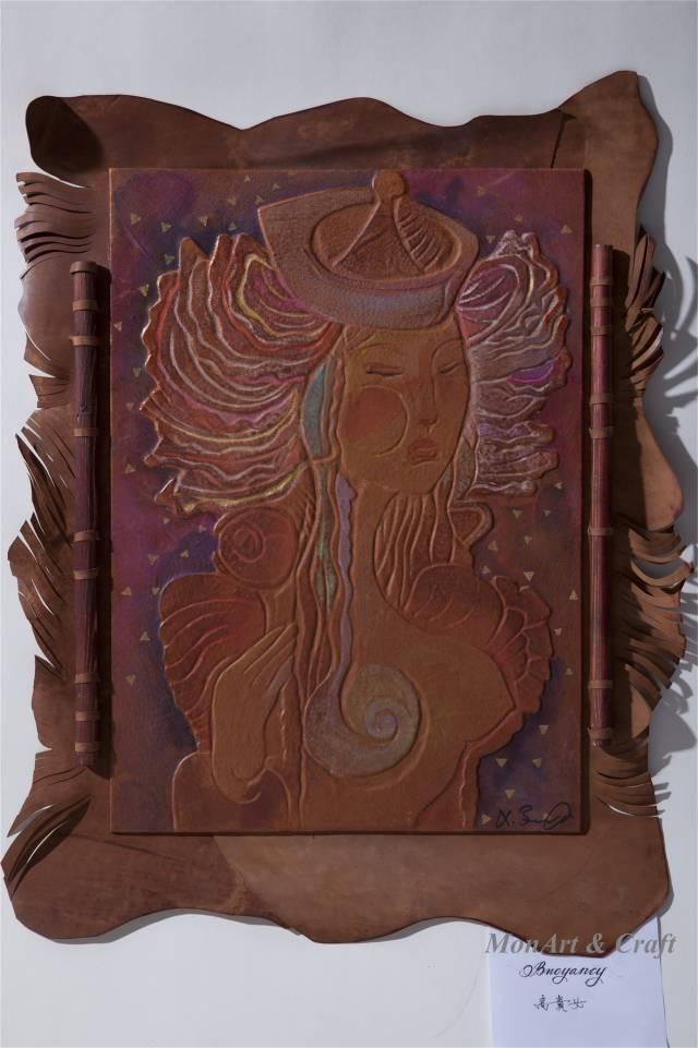 【美图】蒙古国皮画家艺术家吉雅图作品欣赏 第20张