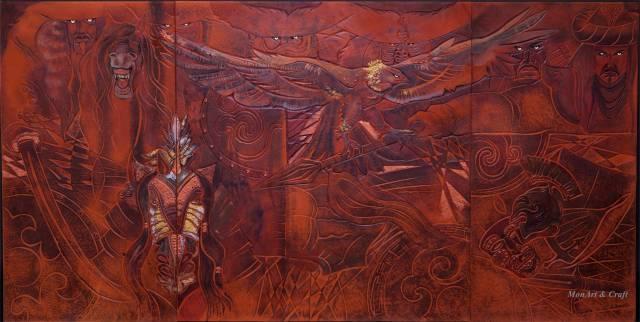 【美图】蒙古国皮画家艺术家吉雅图作品欣赏 第30张