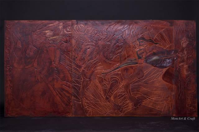 【美图】蒙古国皮画家艺术家吉雅图作品欣赏 第31张