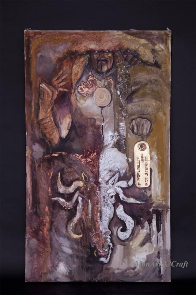 【美图】蒙古国皮画家艺术家吉雅图作品欣赏 第32张