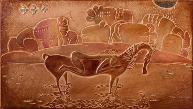 【美图】蒙古国皮画家艺术家吉雅图作品欣赏 第35张
