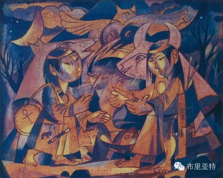 刚在蒙古办展览的布里亚特艺术家尤里作品欣赏 第6张