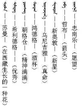 3000个蒙古名字 你一定很需要(记得收藏) 第5张 3000个蒙古名字 你一定很需要(记得收藏) 蒙古文化