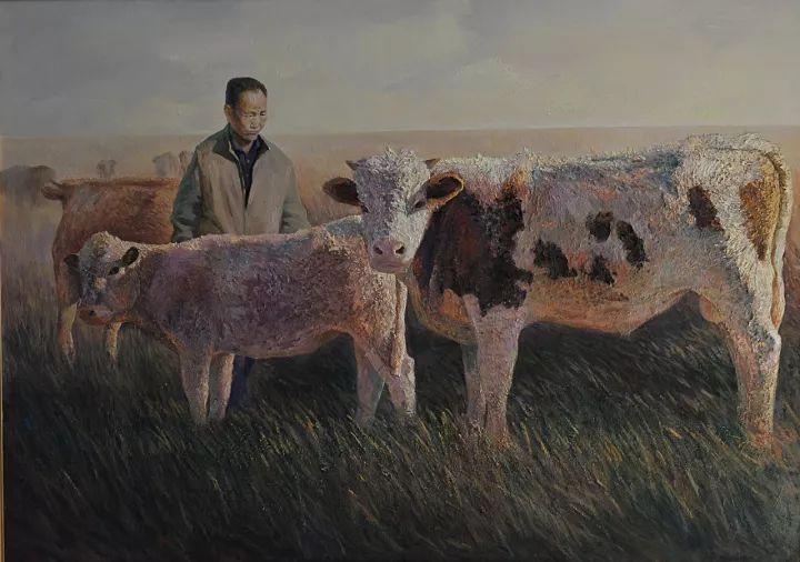 【蒙古图片】这位蒙古族画家,用油画记录蒙古的风土人情,美醉了! 第5张