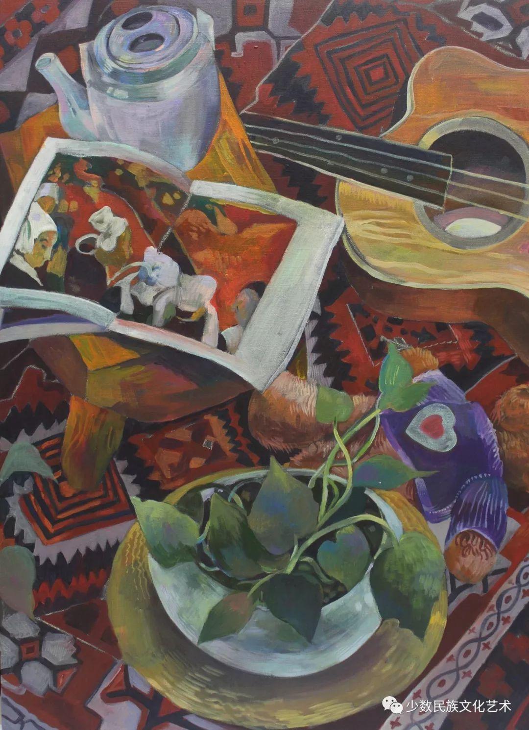 生活.礼物——蒙古族画家杨佳作品欣赏 第3张 生活.礼物——蒙古族画家杨佳作品欣赏 蒙古画廊
