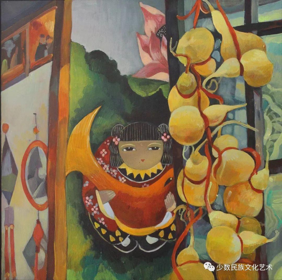 生活.礼物——蒙古族画家杨佳作品欣赏 第16张 生活.礼物——蒙古族画家杨佳作品欣赏 蒙古画廊